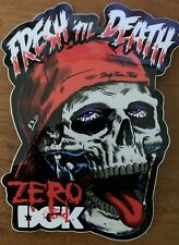New listing DGKxZero 'Fresh Til Death' Sticker Zero Skateboarding Decal DGK Sticker