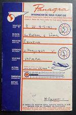 1943 Lima Peru PANAGRA Advertising Postcard Airmail Cover To New York USA