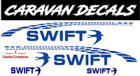 SWIFT DECAL SET X4  120CM  MOTORHOME CAMPERVAN CARAVAN / STICKERS /GRAPHIC /