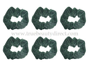 6 x GREEN VELVET SCRUNCHIES SOFT HAIRBANDS HAIR ACCESSORIES NEW SEE MORE IN SHOP