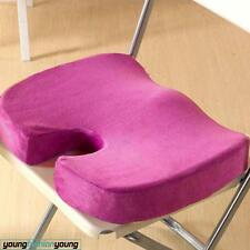 Memory Foam Seat Cushion Bolster Relief Chair Solution Coccyx Pain Orthopedic