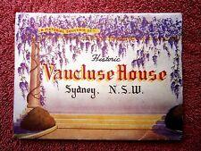 HISTORIC VAUCLUSE  HOUSE  SYDNEY  NEW  SOUTH  WALES COLOUR  VIEW  FOLDER   [95]