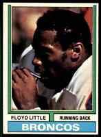 1974 Topps #10 Floyd Little HIF Denver Broncos / Syracuse