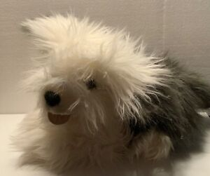 "Vintage Old English Sheepdog Dog Plush 15"" Sheep Dog  Furry Realistic"
