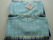Hanna Andersson SNOW OVER STOCKHOLM Blue Snowflake Sweaters Sz 100 3 4 5 NWT EUC