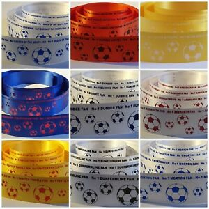 No1 Football Fan Gift Wrap or Cake Ribbon Your team Colours All Scottish Teams