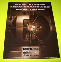 SAFECRACKER Pinball Flyer 1996 UNOPENED Original NOS Promo Artwork BALLY New