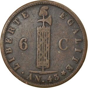 [#875575] Coin, Haiti, 6 Centimes, 1846, VF(30-35), Copper, KM:28