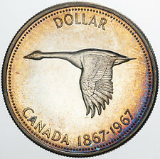 1967 CANADA GOOSE 1 DOLLAR BU UNC SILVER AMAZING LUSTER GEM SUPERB (MR)