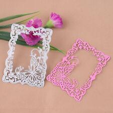 Metal Butterfly Frame Cutting Dies Stencil Scrapbooking Card Embossing Craft DIY