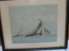 ANTIQUE MARITIME SHIP W.J.HUGGINS ENGRAVING