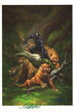 Frank Cho SIGNED Avengers / Infinity War Marvel Comic Art Print ~ Black Panther