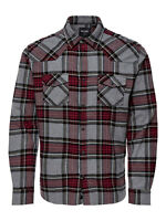 Only & Sons Mens Big King Size Long Sleeve Check Shirt Casual Cotton Work Wear