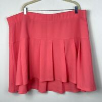 Torrid Coral Pleated Mini Skirt Sunkist Coral Pink Womens Size 26 Circle Skater