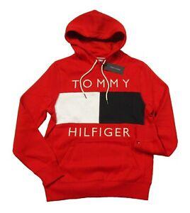SPECIAL!!! Tommy Hilfiger Men's Quinn Logo Print Fleece Pullover Hoodie