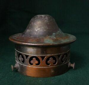 Antiqued copper lamp gallery.