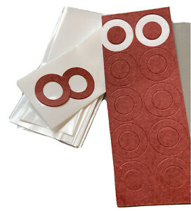 18650 Insulation Skins - Factory Cut Shrink Sleeve x 20 Wraps + Rings UK