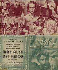Programa PUBLICITARIO de CINE: MÁS ALLA DEL AMOR.