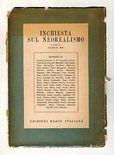 Carlo Bo,INCHIESTA SUL NEOREALISMO,Ed.Radio Italiana 1951[Anceschi,Calvino,Gadda