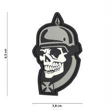 Skull Iron Cross Kreuz Patch Klett Logo Airsoft Paintball Tactical Softair