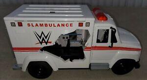 Offical WWE Mattel Wrekkin' SLAMBULANCE Playset Ambulance Vehicle - FOR PARTS