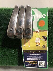 Wilson Staff Ci6 Tour Issue Iron Set 3-4-5 Rifle 7.0 X Stiff Steel Shafts