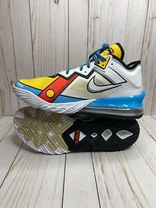 Nike Lebron 18 Low Stewie Griffin Mens Size 11.5 Yellow Blue White CV7572-104