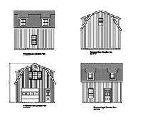 20X20 -Garage Plan Gambrel Roof 20X20 Garage Print Blueprint Plan 17-2020Gmb-1