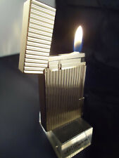 S. T. Dupont Line 2 Lighter - Vertical Fluted Lines - Gold Plated