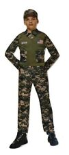 Boys Camo USA Army Soldier Costume Fancy Dress Age 4-6 Years