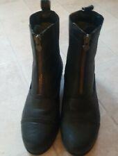 ARIAT ladies Black Leather Jodphur Boots Size 7. {Hardly Worn}. ♡