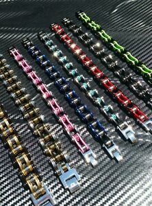 BRACELET CHAIN MOTOCROSS COLOUR OF YOUR CHOICE YZ K-X KTM CR QUAD RAPTOR LTZ LTR
