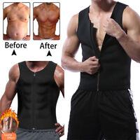 US Men's Slimming Neoprene Shirt Sweat Vest Body Shaper Waist Trainer Shapewear