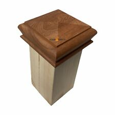 SAPELE Pyramid Newel Cap for 90 x 90 newel post, Staircase post, Staircase cap,