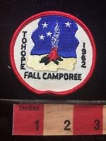 Vtg 1962 To Hope ? TOHOPE FALL CAMPOREE BSA Boy Scout Camp Patch 72B7