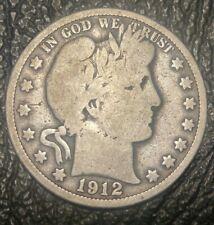 1912 Philadelphia Mint Silver Barber Half Dollar