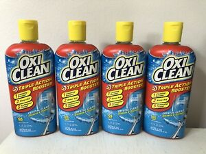 4 OXICLEAN Triple Action Booster Crystal Clear Glasses Dishwasher Cleaner 11.2oz
