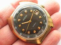 Rare soviet VOSTOK WOSTOK Komandirskie watch for Export. Military Black dial