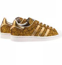 Adidas Superstar Glitter Gold RARE Limited 500 Sz 6.5 24 Karat Gold !