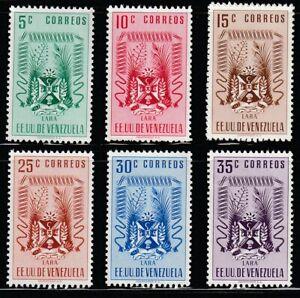 Venezuela   1952   Sc # 520-26(6val.)   Lara   MNH   XF   (55493)