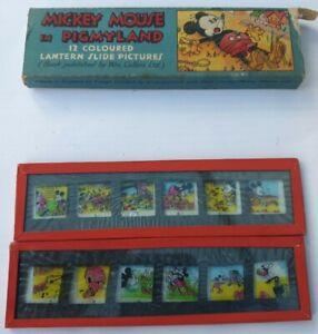 WALT DISNEY Mickey Mouse in Pigmyland Coloured Lantern Slides