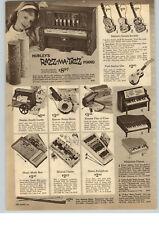1963 PAPER AD Hubley Toy Razz Ma Tazz Player Piano Mattel Guitars Casper