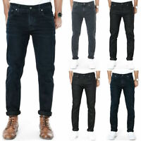 B-Ware Nudie Herren Slim Fit Dry Raw Denim Stretch Jeans Schwarz