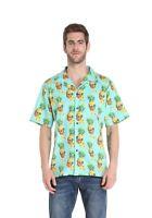 Hawaii Hangover Men's Hawaiian Aloha Shirt Halloween Pineapple Skull Turquoise