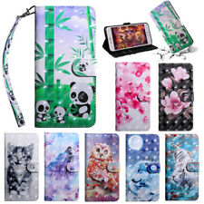 Flower Panda Pattern Leather Flip Case Cover For Nokia 1 Plus 2.2 3.2 4.2 7.2
