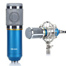 Condenser Recording Microphone Mic W/ Shock Mount Power Cable Anti-wind Cap