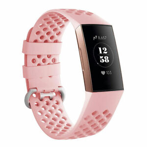 Breathable Sports Soft Watch Band Silicone Strap Bracelet For Fitbit Charge 3 4