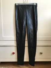 Topshop Black Wet Shiny Club Disco Party High Waisted Faux Leather Trousers