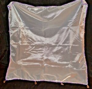Hand crochet sheer fabric Food Cover with Beaded weights.