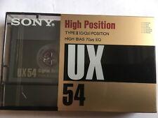 SONY UX 54 FACTORY SEALED AUDIO CASSETTE JAPAN